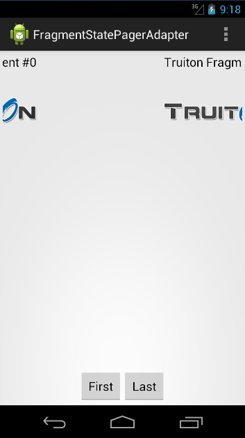Android FragmentStatePagerAdapter Example - Truiton