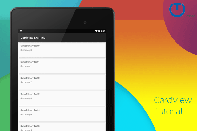 Android CardView Example