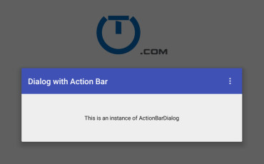 Android Action Bar In A Dialog
