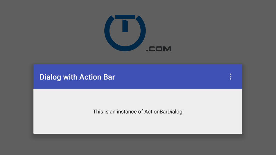 Android Action Bar In A Dialog Using ToolBar