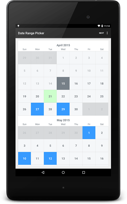 android date range picker